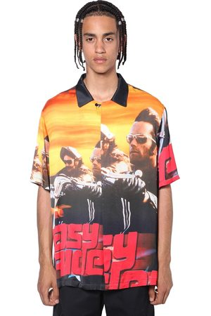 MARCELO BURLON Easy Rider Print Viscose Bowling Shirt