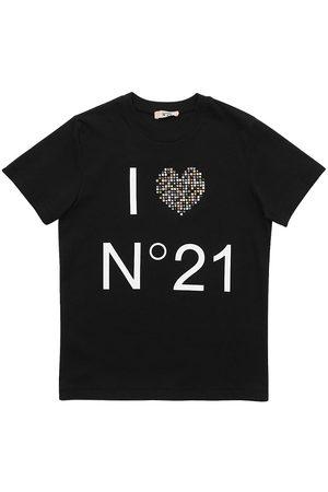 Nº21 Tytöt T-paidat - Logo Print Cotton Jersey T-shirt