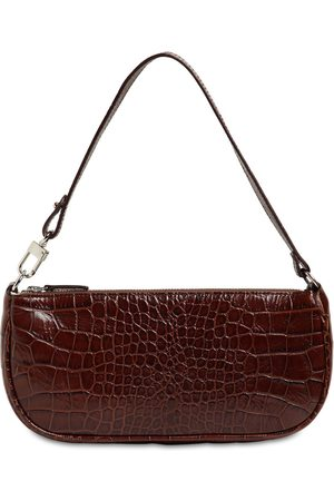 By Far Rachel Croc Embossed Leather Bag