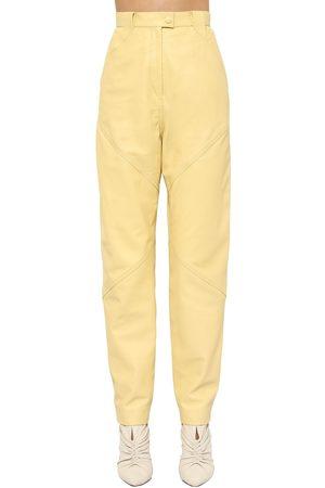Isabel Marant Xenia Straight Leg Leather Pants