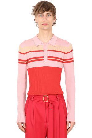Sies marjan Super Fine Wool Knit Polo Shirt