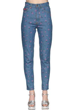 Marc Jacobs Naiset Korkeavyötäröiset - High Waist Printed Straight Jeans