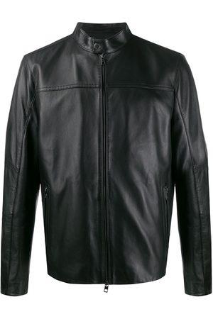 Michael Kors Miehet Nahkatakit - Zip-front leather jacket