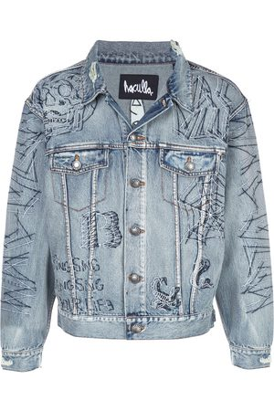 HACULLA Tatted printed denim jacket