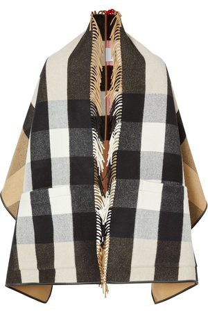 Burberry Check jacquard cape