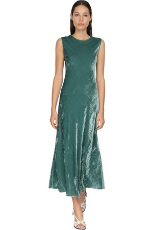 Sies marjan Sleeveless Velvet Cord Midi Dress