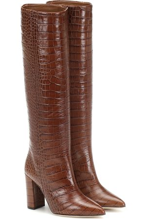 PARIS TEXAS Croc-effect leather boots