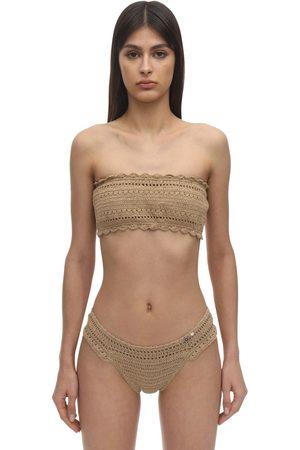 She Made Me Ila Crochet Bandeau Bikini Top