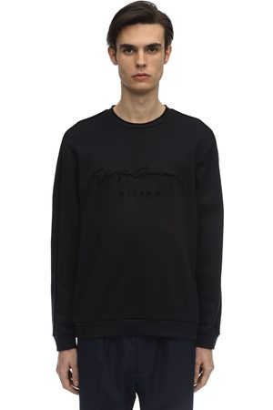 Armani Logo Signature Modal Blend Sweater