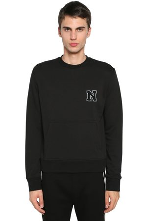 Neil Barrett Logo Patch Cotton Blend Jersey Sweater