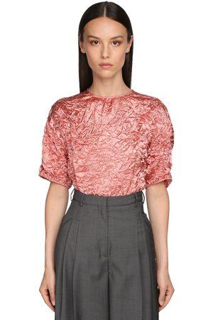 Rochas Naiset T-paidat - Broken Short Sleeved Acetate Top