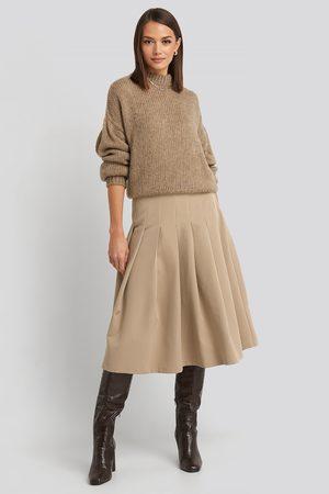 NA-KD Tailored Pleated Midi Skirt