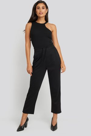 NA-KD Basic Slip Pants - Black