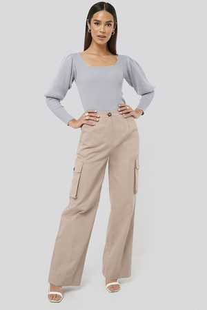 Misslisibell x NA-KD Big Pocket Cargo Pants - Pink