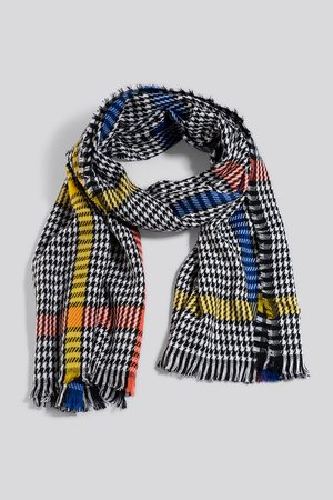 NA-KD Colorful Dogtooth Scarf - Multicolor