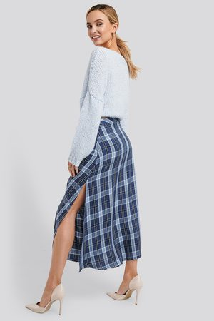 NA-KD High Waist Side Split Midi Skirt - Multicolor