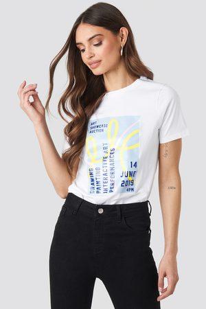 NA-KD Exhibition T-shirt - White