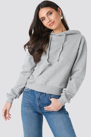 NA-KD Basic Hoodie - Grey