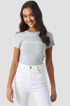 Calvin Klein Core Institutional Logo Tee - Grey