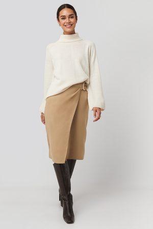 Trendyol Cream Belt Detailed Skirt