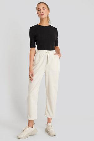 NA-KD Basic Slip Pants - White