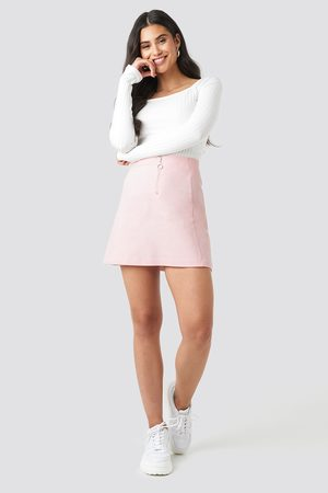 NA-KD Ring Puller A-Line Mini Skirt - Pink