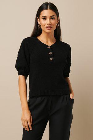 NA-KD Vintage Look Knitted Top - Black