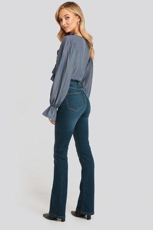 NA-KD Skinny Bootcut Jeans - Blue