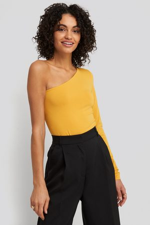 NA-KD One Shoulder Body - Yellow