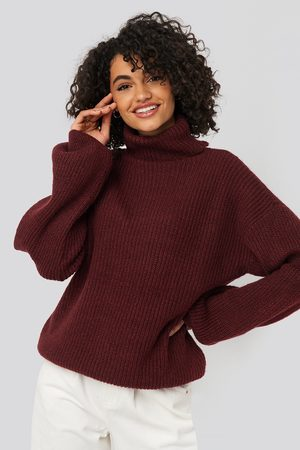 NA-KD Knitted Turtle Neck Sweater - Red