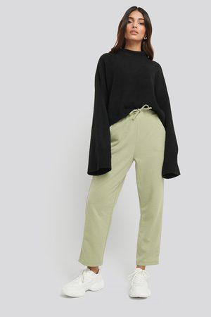 NA-KD Basic Slip Pants - Green