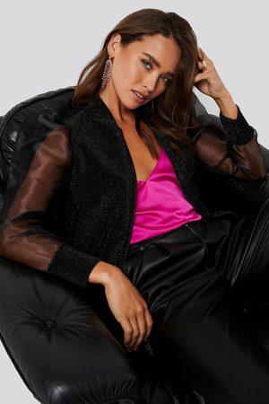 Trendyol Organza Detailed Knitted Jacket - Black