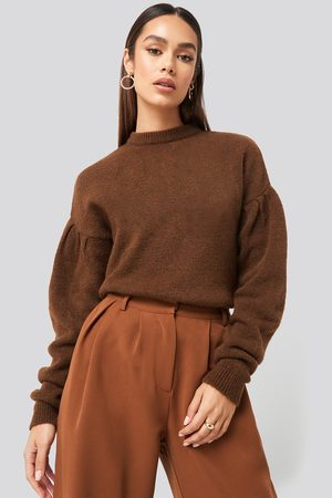 NA-KD Drop Shoulder Pullover - Brown