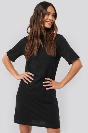 NA-KD Polo Neck T-shirt Dress - Black