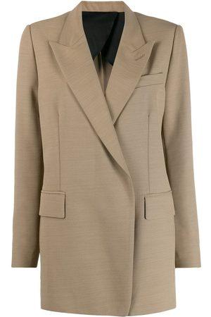 Ami Long single-breasted blazer