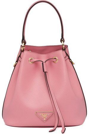 Prada Triangle patch bucket bag