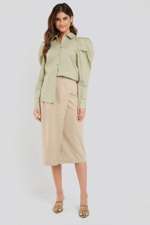 NA-KD Tailored Overlap Midi Skirt