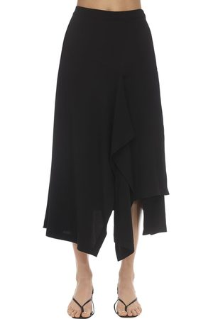 Colville High Waist Draped Midi Skirt