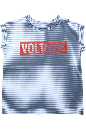 Zadig & Voltaire Logo Striped Cotton Jersey T-shirt