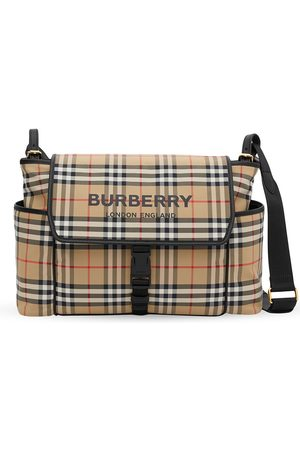 Burberry Kids Logo-print checked baby changing bag