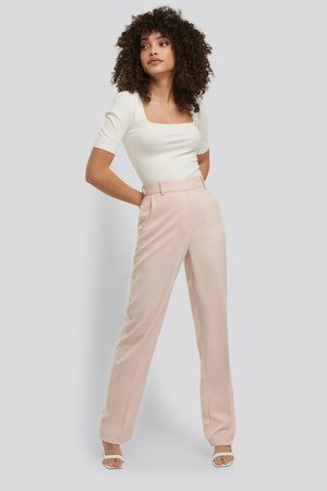 NA-KD Mid Rise Creased Suit Pants
