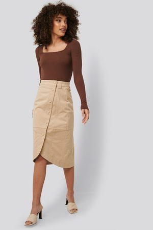 NA-KD Naiset Midihameet - Wrap Skirt