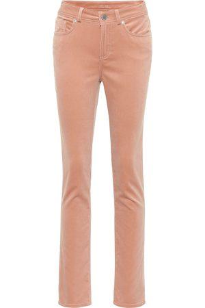 Loro Piana Mathias stretch-velvet straight pants