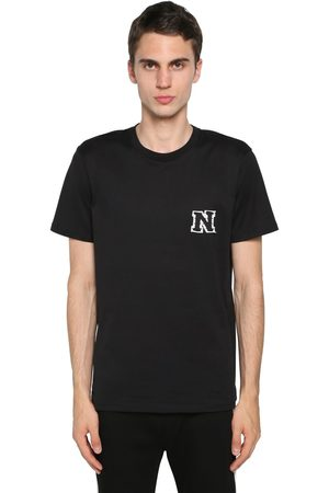Neil Barrett Cotton Jersey T-shirt W/ Logo Patch