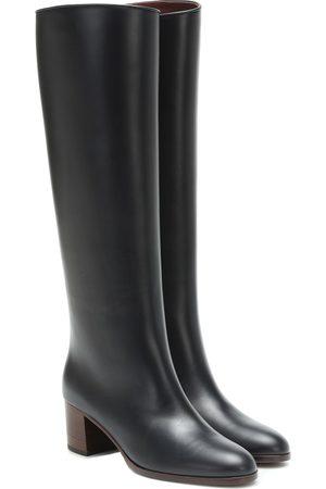 Loro Piana Naiset Ylipolvensaappaat - Paris 55 leather knee-high boots