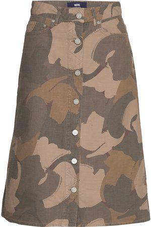 WoodWood Naiset Midihameet - Grit Skirt Polvipituinen Hame Monivärinen/Kuvioitu