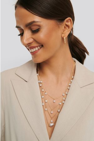 NA-KD Layered Uneven Pearl Necklace - Gold