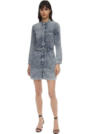 Stella McCartney Distressed Cotton Denim Jumpsuit
