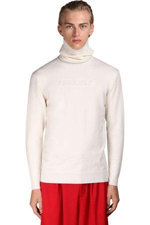 AMBUSH Logo Embossed Wool Blend Knit Sweater