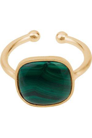 Pernille Corydon Malachite Ring Adjustable Sormus Korut Kulta